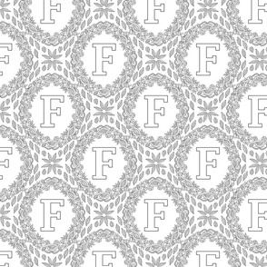 letter-F-black-white-wreath-SF-PATTERN-0819