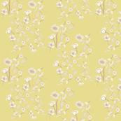 Mustard ink flowers