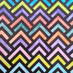 Multi colour zig-zag