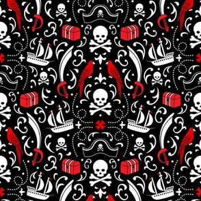 A Pirate's Life Damask (Small)