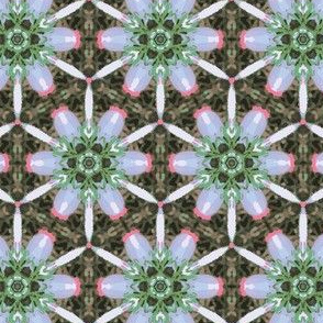 Abstract colorful kaleidoscope seamless pattern.