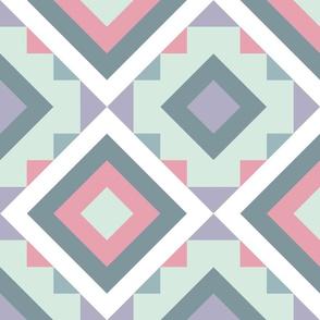 Neutral Kilim Pastel Pink, Lavender, Moss