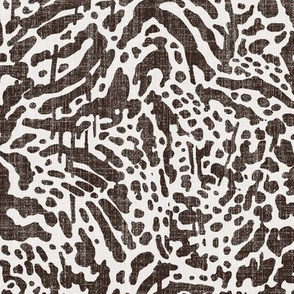 animal skin with texture in charcoal