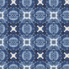 Delft blue flower geo