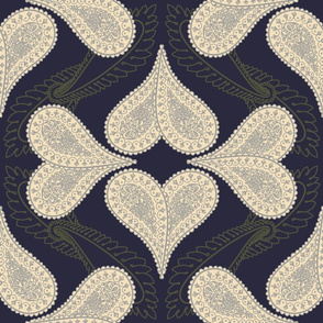 Neutral Paisley Ogee with Acanthus