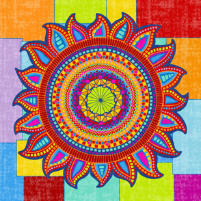 Boho Sun on Patchwork by lalalamonique