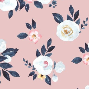 Amelia Watercolor Floral in Blush