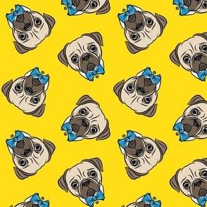 Formal Pug - pug with bowties - yellow - LAD1