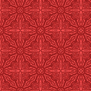 Stitched Star Flower, Red