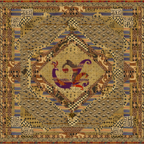 African Persian Style Cheater Quilt