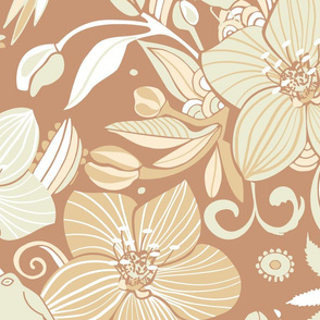 Helleborus and birds | gold