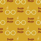 snuggle muggle - maroon and mustard