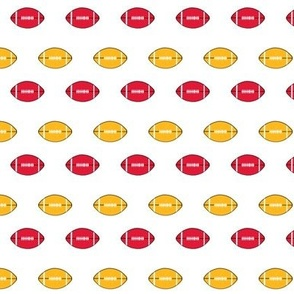 chiefs football fabric - red and gold football