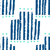 Navy and Teal Abstract