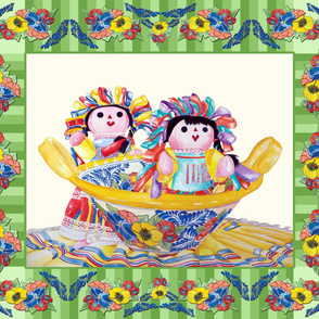 Twins in a Talavera Bowl-Cheater Quilt