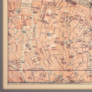 Paris map, antique, yard