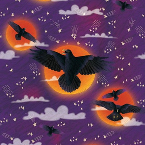 Halloween Ravens & Blood Moon