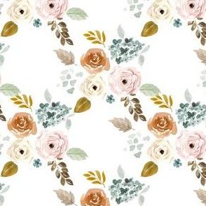 """4"""" Autumn Bouquet White"""
