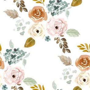 """8"""" Autumn Bouquet White"""