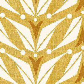 Tulipa - Floral Geometric Goldenrod Yellow Large Scale