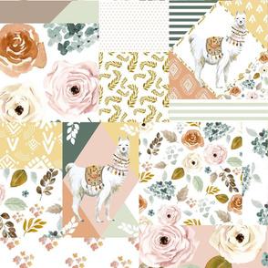 "18"" Llama Modern Quilt Pattern"