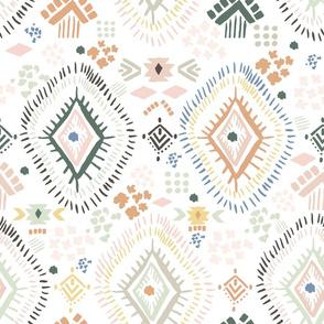 "18"" Modern Aztec Color Print"
