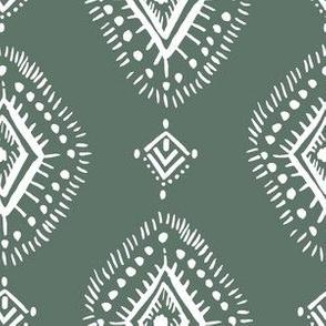 "6"" Sage and White Aztec Print"