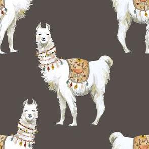 "8"" Western Aztec Llama in Dark Tan"