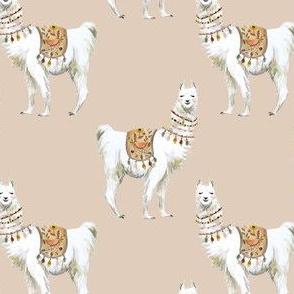 "4"" Western Aztec Llama in Tan"