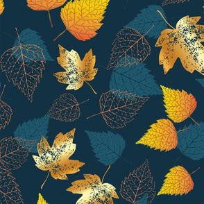 Golden Fall Autumn Leaves