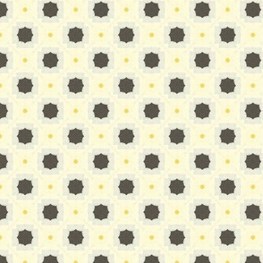 Square Flower Retro Tiles M+M Yolk by Friztin