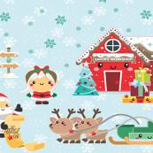Santa clause child  size panel 1