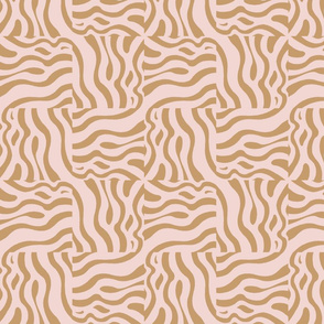Sandy beach waves in pale pink and golden sand