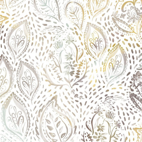 Painted Paisley - Soft Neutral