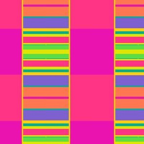 Neon color block pattern - bright, loud and fun!