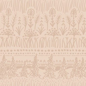 Woodland Stripe (Warm Peach)