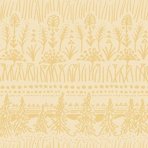 Woodland Stripe (Butter Yellow)