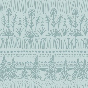 Woodland Stripe (Frost Green)