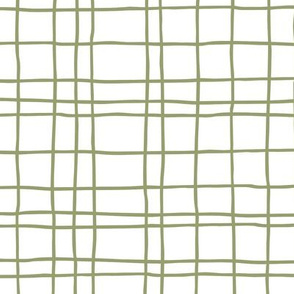 Minimal irregular stripes abstract linen lines geometric grid olive green neutral