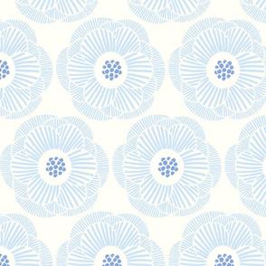 camellia - light blue on white background