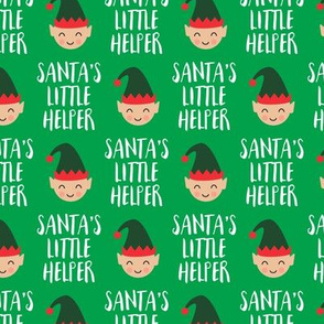 (small scale) Santa's Little Helper with cute elf - green - LAD19BS