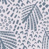 palm leaves slate neutral bedding