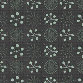 Allium Allure, Mini Coordinate, Charcoal Gray