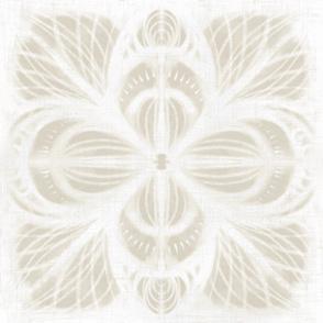 shibori lotus flower: linen sand