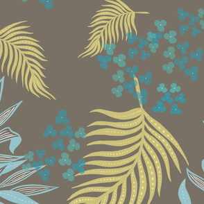 soft leaves spoonflower