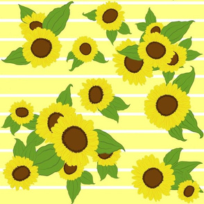 Sunflowers with Stripes/ yellow