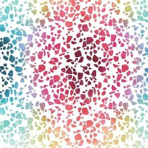 rainbow watercolor terrazzo