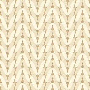 Neutral knitted pattern - beige and cream