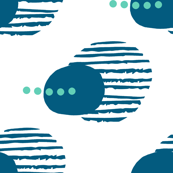 Abstract Navy Blue and Teal Pattern