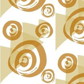 Cimmamon Swirls and Caramel Bits on White - Large Scale
